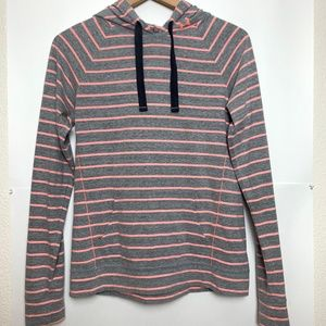 UNDER ARMOUR Semi Fitted Striped Pullover Hoodie